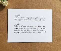 wedding gift honeymoon fund wedding poem card inserts wedding invitations money gift