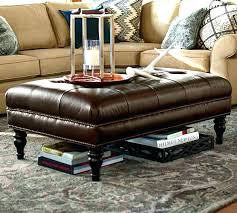 round leather coffee table round leather ottoman coffee table home design