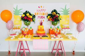 Pineapple Decoration Ideas Kara U0027s Party Ideas Tutti Frutti Pineapple Themed Birthday Party