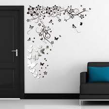 wall art decor ideas wall art stickers uk inexpensive high wall art decor ideas lovely mirror wall art stickers uk butterfly reflective monogram black colours