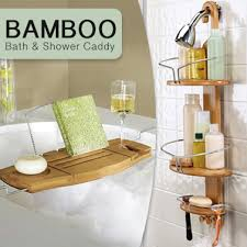 Bathroom Caddies Shower Luxury Bamboo Bathroom Caddies For Shower Or Bath Buy Shower