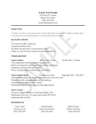 Paralegal Resume Example Legal Assistant Resume No Experience Sidemcicek Com