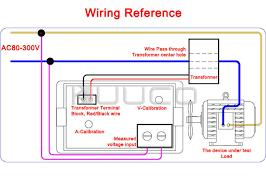 2 wires voltage current measure gauge ac 200 500v 100a blue