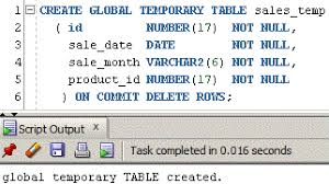 how to use oracle create table