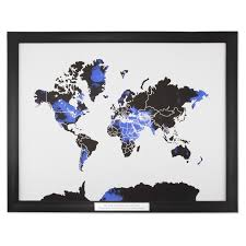 World Map Art Print by World Map Framed Print
