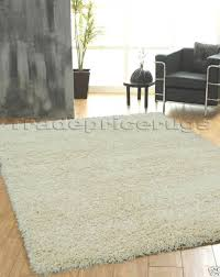 Shaggy Cream Rug Small Extra Large Shaggy Rug Thick 5cm Pile Non Shed Modern Soft