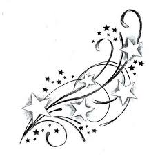 beautiful swirl ribbon bow tattoo on thigh