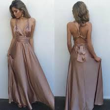 evening dress a line chagne prom dress formal evening dress with
