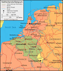 belgium and netherlands map belgium map and satellite image