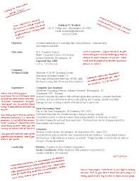 Sample Resume Undergraduate by Career