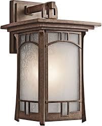 Outdoor Light Fixture With Outlet by Kichler 49451agz One Light Outdoor Wall Mount Wall Porch Lights