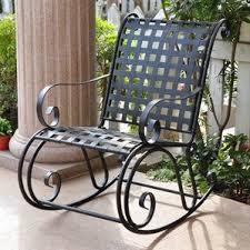 Iron Patio Furniture by Metal Patio Rocking Chairs You U0027ll Love Wayfair