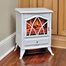 comfort smart 600 sq ft white infrared fireplace stove cs 18ir wht