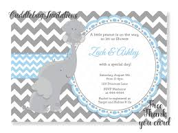 baby boy baby shower invitations blue elephant boy baby shower invitation baby boy shower