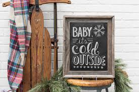 baby it u0027s cold outside sign winter wedding photo prop