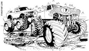 demon monster truck coloring pages coloring pages free printable