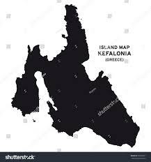 Kefalonia Greece Map by Island Map Kefalonia Greece Stock Vector 505889221 Shutterstock
