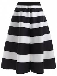 high waisted skirts striped high waisted skirt white and black skirts one size zaful