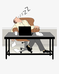 bureau dessinateur un dessinateur de bureau asthénie endormi dessinateur asthénie bd