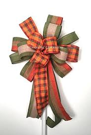 fall ribbon fall wreath bow fall wired ribbon fall burlap wired