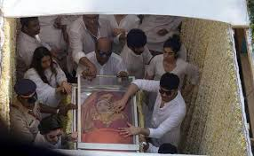 family friends fans bid farewell to sridevi the hindu