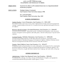 resume exles for teachers firstr resume exles of resumes template no experience