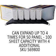 Desk Reference System by Durable 5542 00 Sherpa Desk Reference System Desktop 10 Panel