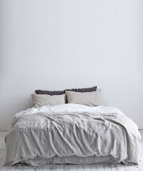 dove grey linen duvet set
