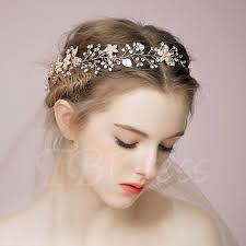 bridal headband alloy with leaves beading bridal headband tbdress