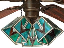 Southwest Tiffany Style Stained Glass Ceiling Fan Shade Glass