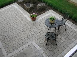 Paver Stones For Patios Interesting Patio Shape To Get Around Existing Trees Favorite