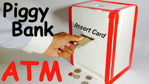 how to make piggy bank atm machine at home diy craft for kids