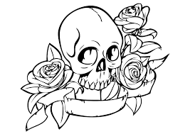 skull and roses coloring pages free free coloring books