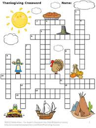crossword puzzle thanksgiving no prep packet vocabulary activity