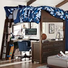 Boy Bunk Bed Beadboard Loft Bed Pbteen