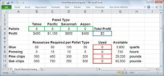 optimization tutorial step by step product mix example in excel