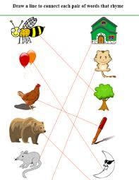 rhyming words for kids first grade rhyming worksheets