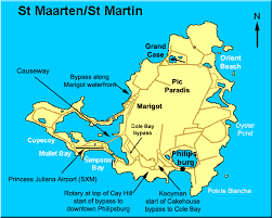 map of st st martin road map st maarten road map