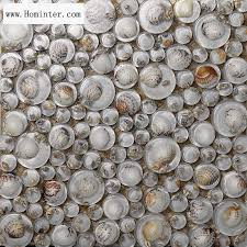 Wholesale Mosaic Tile Crystal Glass Shell Tile Backsplash Pebble - Pebble backsplash