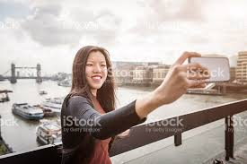 Take A Selfie Take A Selfie With Tower Bridge On Background Stock Photo