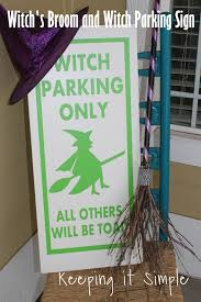 keeping it simple halloween decor idea witch u0027s broom and witch