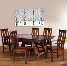Mission Dining Room Chairs by Amish Formal Dining Room Set Trestle Dining Table Design Mission