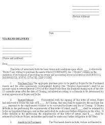 letter of intent to purchase goods printable sample letter of