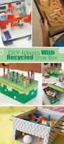 diy ideas with recycled shoe box diy ideas box and craft