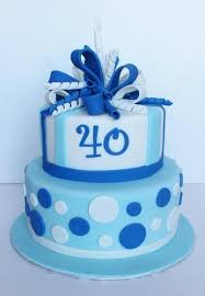 40th birthday delivery 40th birthday cake blue custom cake in ottawa delivery in ottawa