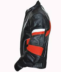motorbike coats leather motorcycle motorbike cowhide combi jacket in different