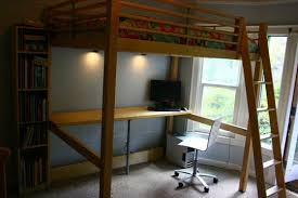 Bunk Bed Used Loft Bed Workstation For Students Small Spaces