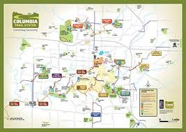 missouri map columbia trail guide map in columbia mo all biking trails around the city