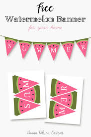 watermelon summer printable banner decorate your home for summer