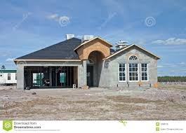 Cinder Block House Plans Home Under Construction Stock Photo Image 38876516